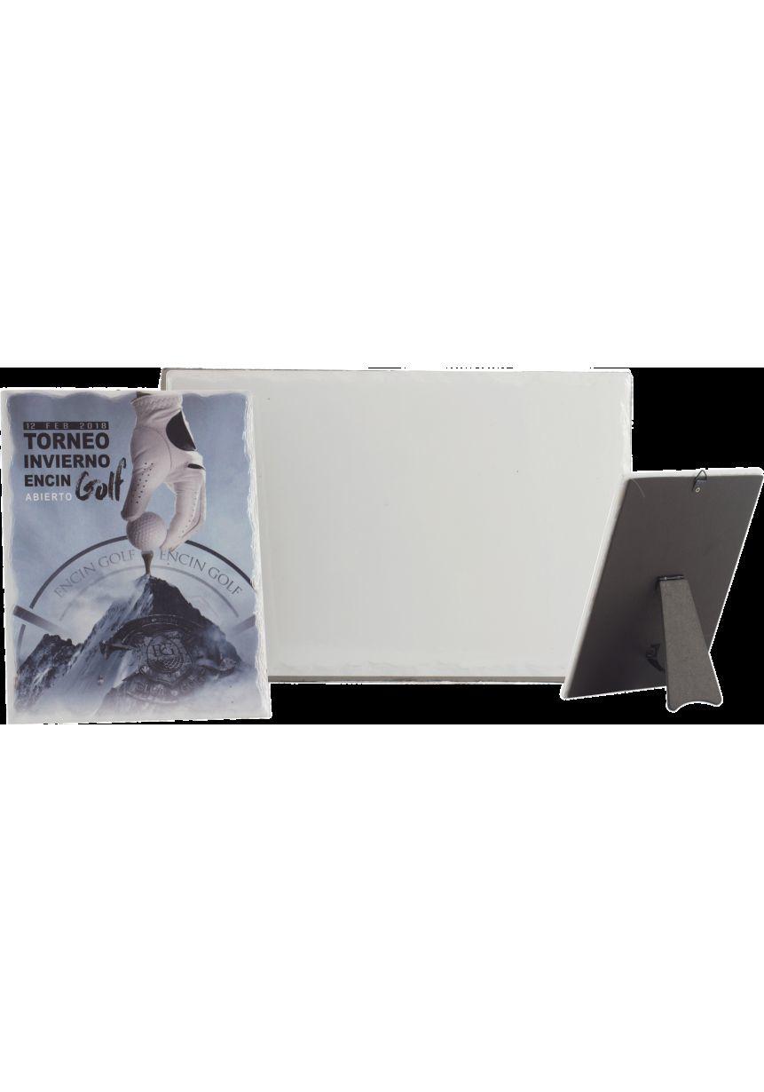 Troféu rectangular posição horizontal impressão vidro colorido