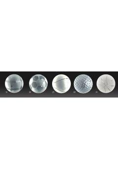 Trofeo de cristal copa invertida opción pelota base mármol Thumb