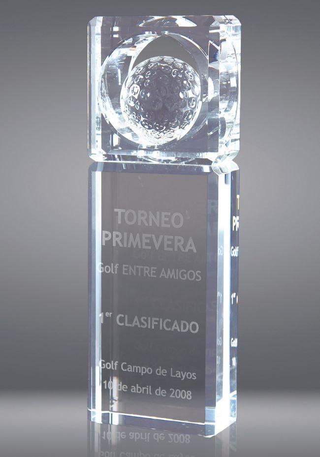 Sfera di trofeo di cristallo a forma di prisma