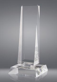 Trofeo de cristal forma prisma triangular Thumb