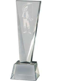 Trofeo de cristal forma prisma Thumb