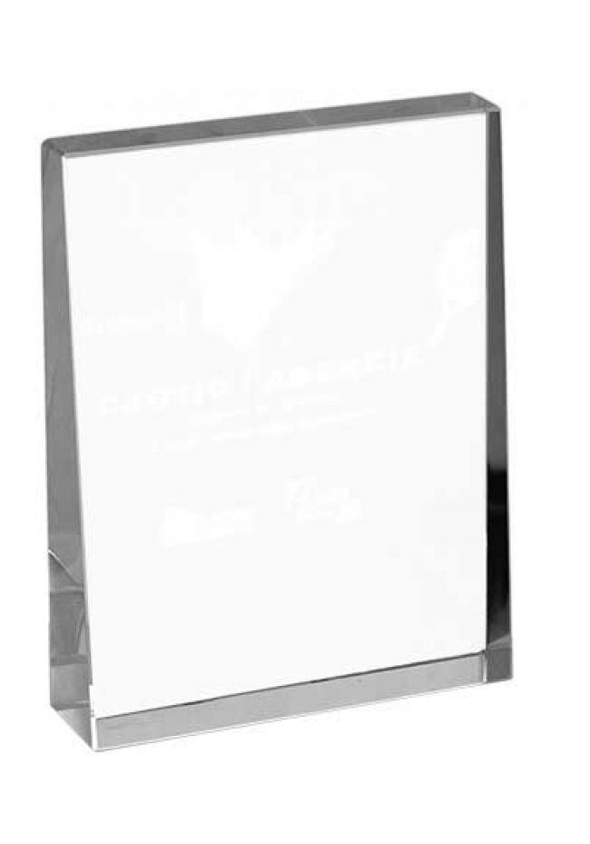 Trofeo de cristal forma rectangular