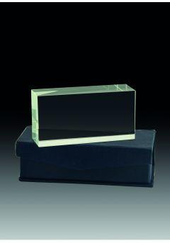 Trofeo de cristal prisma rectangular horizontal Thumb