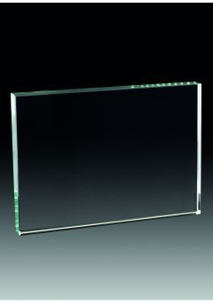Trofeo taco cristal forma rectangular  Thumb