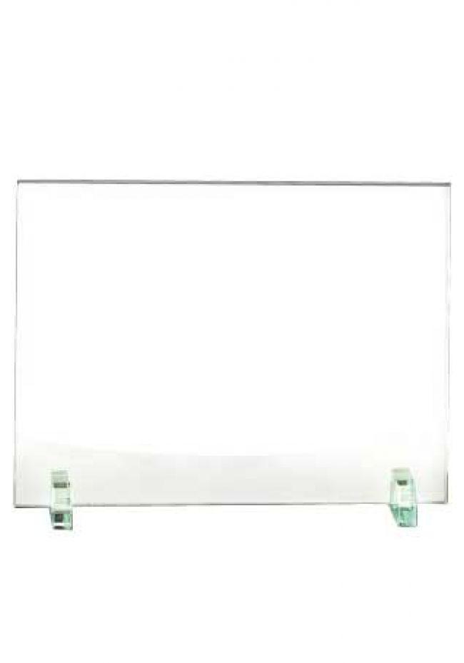 Trofeo de cristal forma rectangular soporte cristal