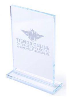 Troféu de cristal base rectangular rectangular Thumb