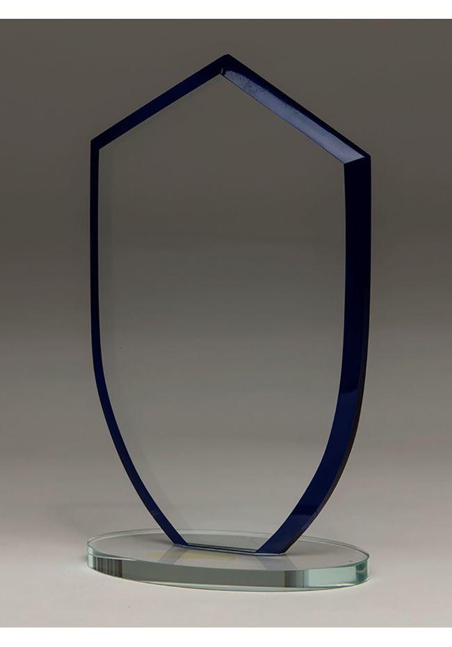 Trofeo de cristal forma cuba base rectangular cristal