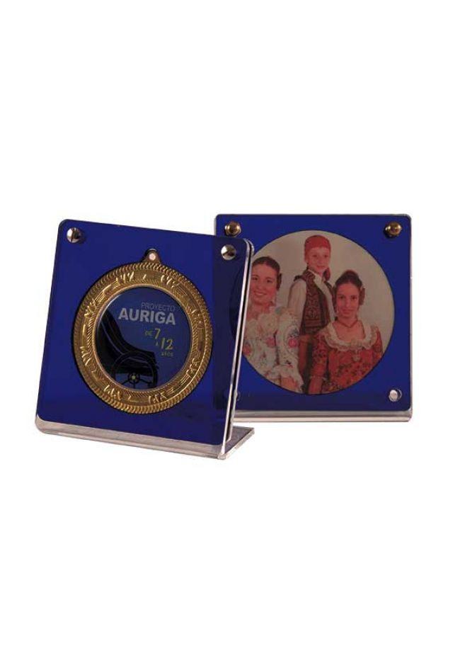 Soporte presentación medalla de 80 mm