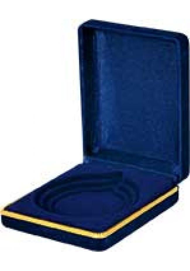 Estuche para medallas de color azul