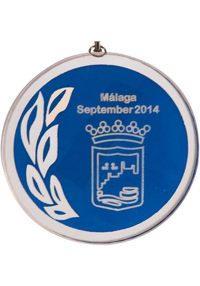 Medalla cristal de 70 mm diámetro