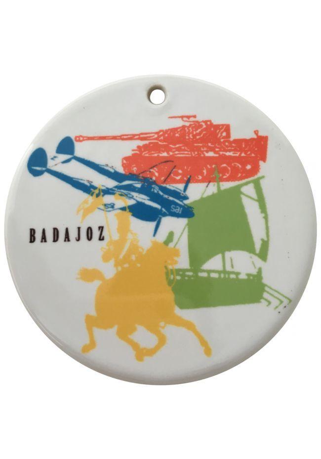Medalla cerámica sublimación color de 70 mm