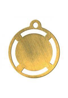 Medalla alegórica portadiscos de 35 mm diámetro Thumb