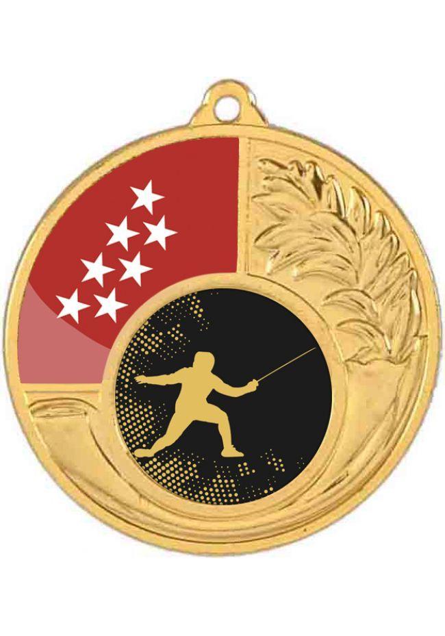 Medalla alegórica 50 mm diámetro opción comunidad autónoma