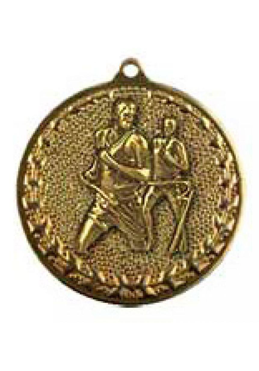 Medalla de atletismo-cross en relieve alto