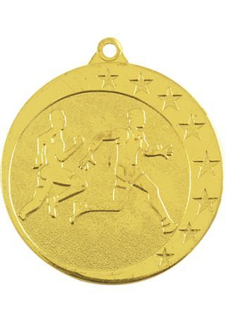 Medalla de atletismo-cross en relieve alto CO2