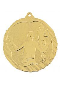 Medalla de atletismo-cross en relieve alto-1