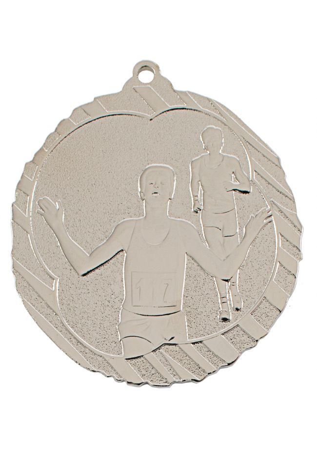 Medalla de atletismo-cross en relieve alto