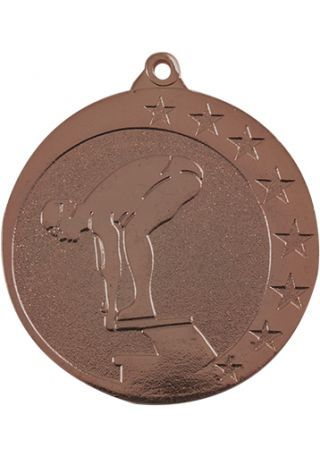 Medalla de natación en relieve alto CO2