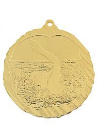 Swimming medal in high relief CO2