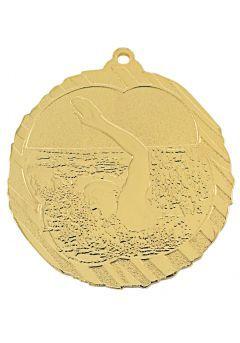 Medalla de natación en relieve alto-1