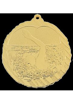 medalla de natacion en relieve alto co2 30