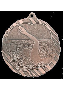 Medalla de natación en relieve alto