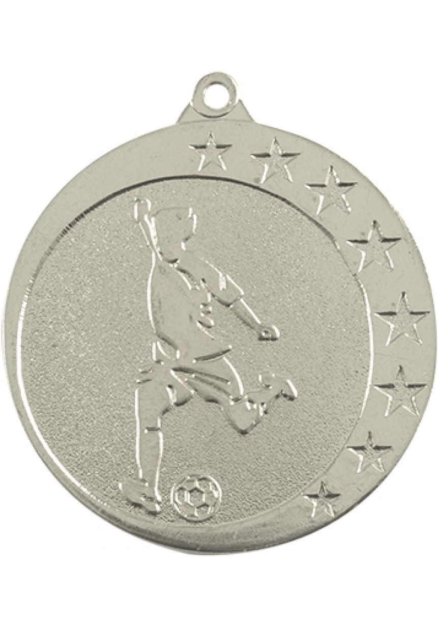 Football medal in high relief CO2