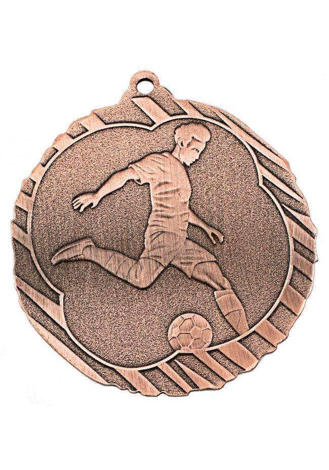 Medalla de fútbol en relieve alto