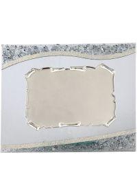 Methacrylate rechteckigen Platte Gold trim