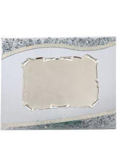 Placa de homenaje en cristal rectangular