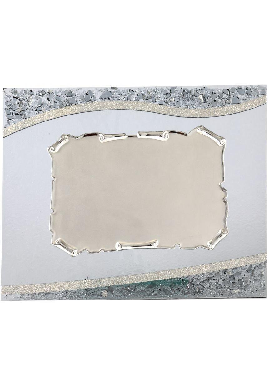 Methacrylate rectangular plate gold trim