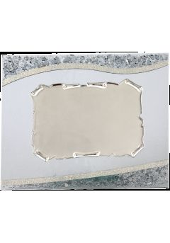 placa de homenaje en metacrilato rectangular borde dorado 11