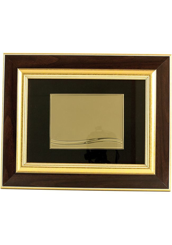 Tribute rechteckigen Platte Typ Box aus Holz Doppel-Gold Sublimation