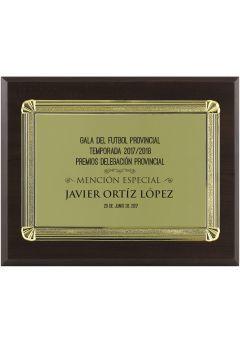 Placa de homenaje especiales forma rectangular aluminio  Thumb