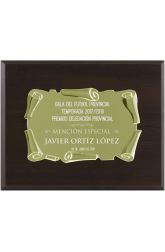 Or noyer support de plaque