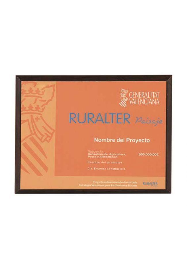 Placa de homenaje especiales forma rectangular