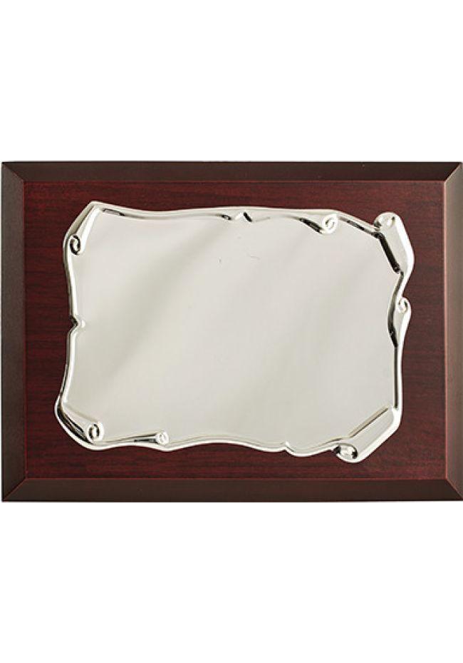 Placa de homenaje comercial pergamino antiguo