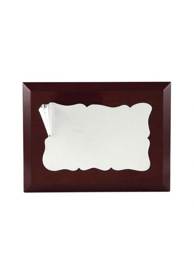 Placa de homenaje comercial pergamino hierro oscurecido