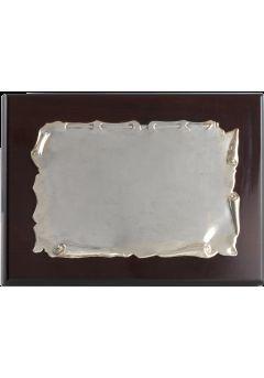 placa de homenaje comercial pergamino aluminio 11