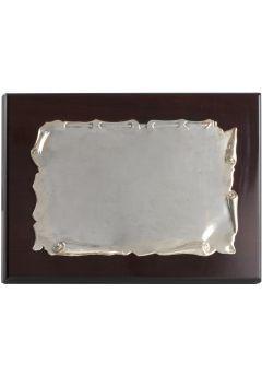 Placa de homenaje comercial pergamino aluminio