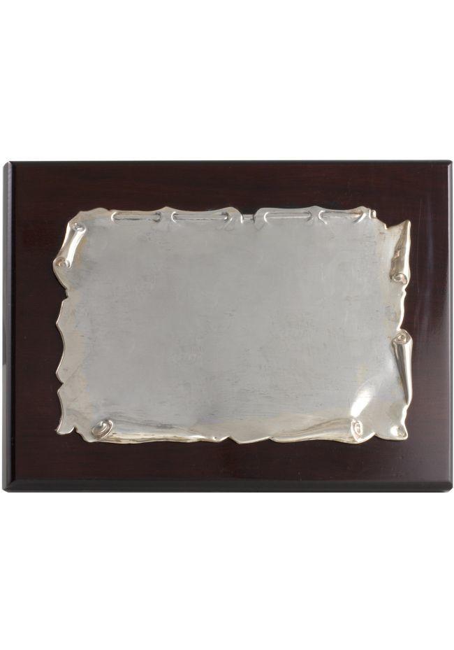 Piastra in alluminio pergamena omaggio commerciale