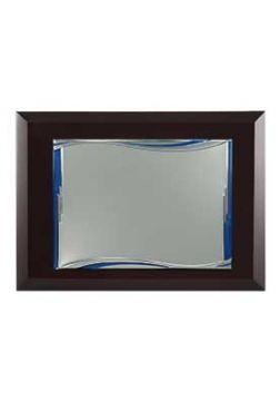 placa de homenaje comercial rectangular ondas azules