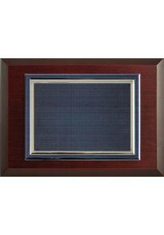 placa de homenaje comercial rectangular ondas azules 11