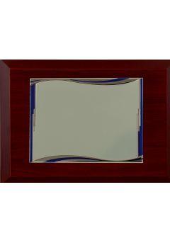 placa de homenaje comercial rectangular ondas azules 14