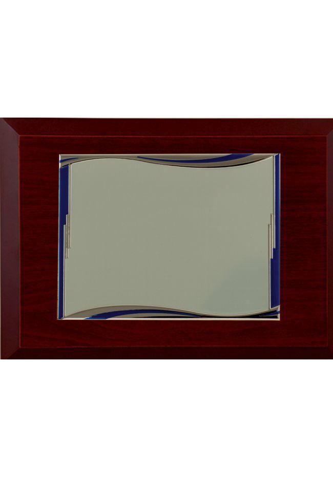Kommerzielle Tribut rechteckigen Platte blauen Wellen