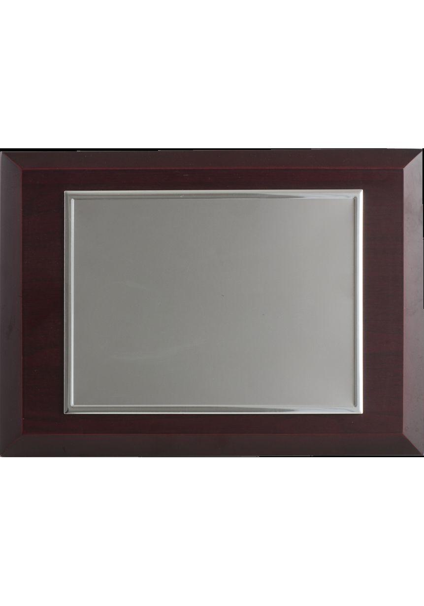 Placa de homenaje comercial rectangular de aluminio biselado
