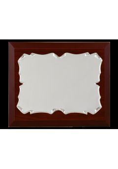 placa de homenaje comercial rectangular de aluminio con forma pergamino lateral redondo 11