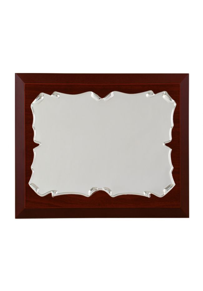 Commercial rectangular plate-shaped aluminum tribute parchment round side