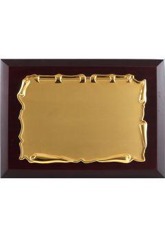 placa de homenaje comercial de metal con forma pergamino 11