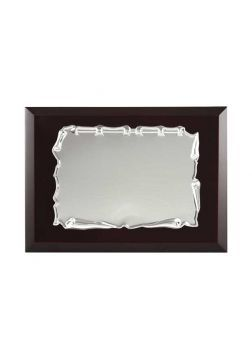 placa de homenaje comercial de aluminio con forma pergamino redondo